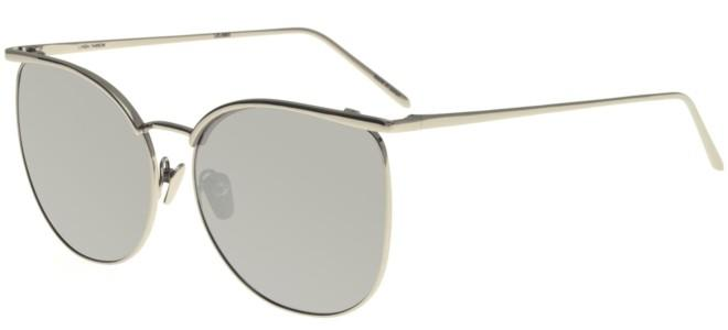 Linda Farrow sunglasses LINDA FARROW 509 WHITE GOLD MIRROR