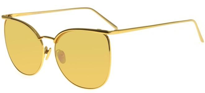 1e96f736e26 Linda Farrow 509 Yellow Gold Mirror women Sunglasses online sale