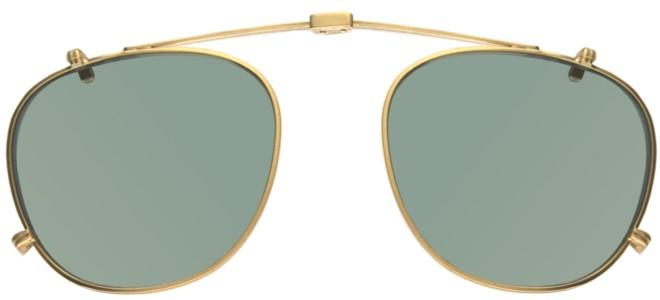 Garrett Leight HAMPTON COMBO BRUSHED GOLD FOLDING CLIP-ON