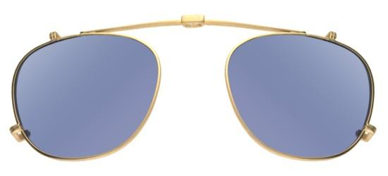 Garrett Leight HAMPTON COMBO GOLD FOLDING CLIP-ON