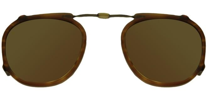 Garrett Leight HAMPTON DEMI BLONDE FOLDING CLIP-ON