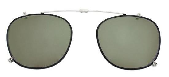 Garrett Leight KINNEY SILVER BLACK  CLIP-ON