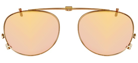 Garrett Leight MILWOOD ROSE GOLD CLIP-ON