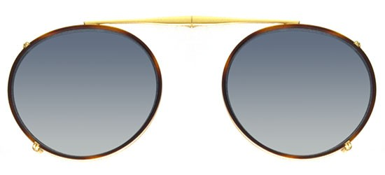 Garrett Leight PENMAR MATTE GOLD CLIP-ON
