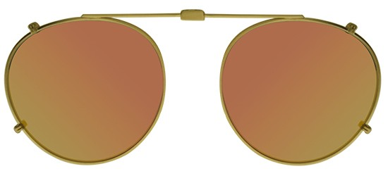 Garrett Leight WILSON MATTE GOLD CLIP-ON