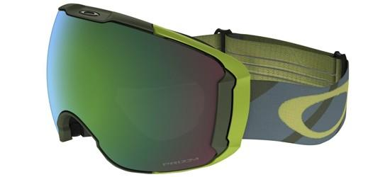 Oakley AIRBRAKE XL OO 7071 HAZARD BAR ARMY IRON/PRIZM SNOW JADE IRIDIUM