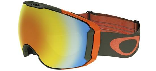 Oakley AIRBRAKE XL OO 7071 MILITARY RECON GREEN/FIRE IRIDIUM