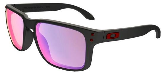 Oakley HOLBROOK OO 9102 MATTE BLACK/POSITIVE RED IRIDIUM