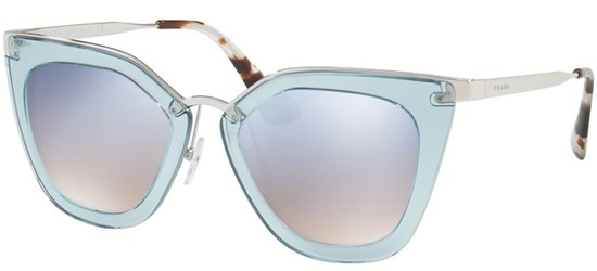 Prada PRADA CINÉMA EVOLUTION SPR 53SS TRANSPARENT AZURE/LIGHT BLUE SHADED SILVER