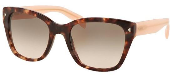 Prada PRADA SPR 09SS SPOTTED BROWN PINK/LIGHT PINK GREY SHADED