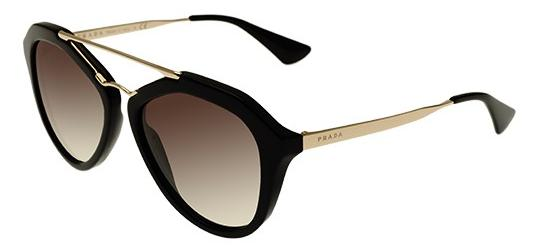 Prada PRADA SPR 12QS BLACK GOLD/BROWN GREY SHADED