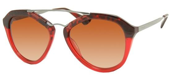 Prada PRADA SPR 12QS RED HAVANA SHADED TRANSPARENT RED/BROWN SHADED