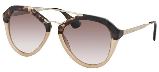 Prada PRADA SPR 12QS BROWN HAVANA SHADED LIGHT BROWN/BROWN SHADED