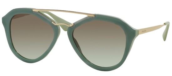 Prada PRADA SPR 12QS DARK GREEN/GREY GREEN SHADED