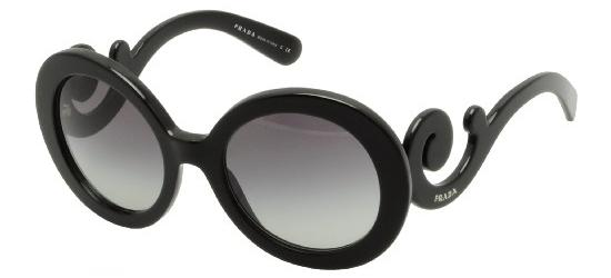 Prada PRADA SPR 27NS BLACK/DARK GREY SHADED