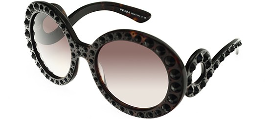 Prada PRADA SPR 31PS HAVANA STONES/GREY SHADED