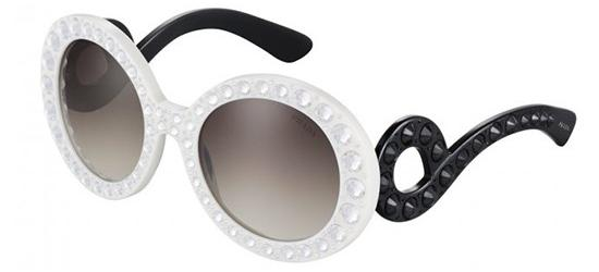 Prada Prada PRADA SPR 31PS IVORY BLACK STONES/GRAY SHADED