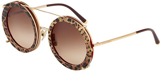 Sonnenbrillen Dolce & Gabbana Customize Your Eyes Dg 2198 Gold Spotted Brown Double Face Damenbrillen 1p7xoMN