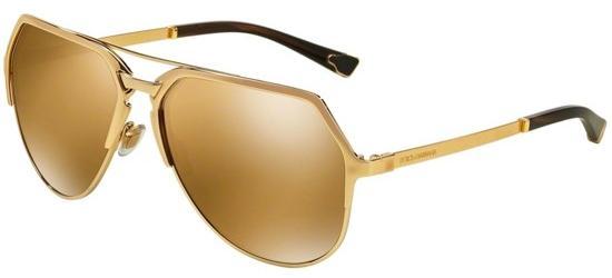 Dolce & Gabbana DG 2151 GOLD PLATED 18KT/BROWN BRONZE MIRROR