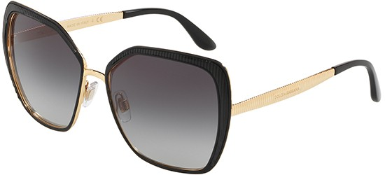 Dolce & Gabbana Sonnenbrillen GROS GRAIN DG 2197 BLACK/GREY SHADED Damenbrillen QcGVXgts