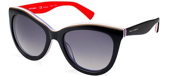 Dolce & Gabbana MULTICOLOR DG 4207 BLACK RED/GREY SHADED POLARIZED
