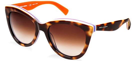 Dolce & Gabbana MULTICOLOR DG 4207 HAVANA ORANGE/BROWN SHADED