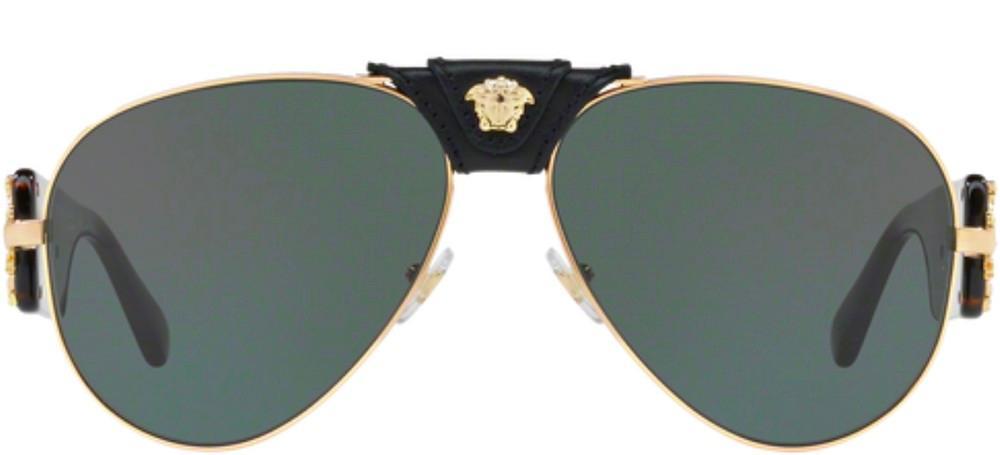 Indexbild 2 - Versace VE 2150Q Gold Black Havana/Grey Green 62/14/140 Herren Sonnenbrillen