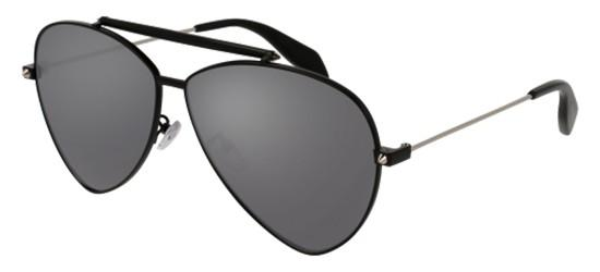 Alexander McQueen AM0058S BLACK/SILVER MIRROR