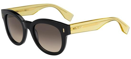 Fendi COLOR BLOCK FF 0026/S BLACK TRANSPARENT YELLOW/BROWN SHADED