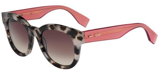 Fendi COLOR BLOCK FF 0026/S SPOTTED HAVANA LIGHT CORAL/BROWN SHADED