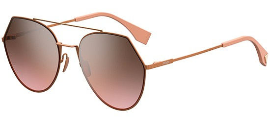 Fendi EYELINE FF 0194/S LIGHT PINK/GREY BROWN SHADED PINK