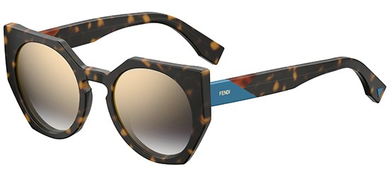 Fendi  FENDI FACETS FF 0151/S HAVANA BLUE/GOLD GREY SHADED