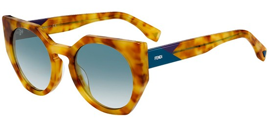 Fendi  FENDI FACETS FF 0151/S SPOTTED HONEY HAVANA/GREEN SHADED