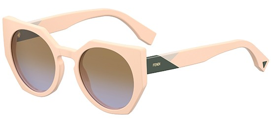 Fendi  FENDI FACETS FF 0151/S LIGHT PINK GREEN/LIGHT BROWN GREY SHADED