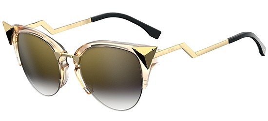 Fendi IRIDIA FF 0041/S CRYSTAL GOLD/BROWN GREY SHADED