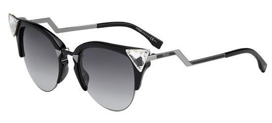 Fendi IRIDIA FF 0041/S BLACK PALLADIUM BLACK/DARK GREY SHADED
