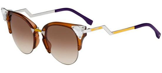 Fendi IRIDIA FF 0041/S BROWN PALLADIUM YELLOW/BROWN SHADED