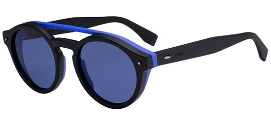 2677a482615 Fendi I SEE YOU FF M0017 S BLACK BLUE men AUTHENTIC Sunglasses ...