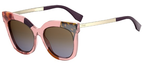 Fendi JUNGLE FF 0179/S PINK MULTICOLOR GOLD/BROWN SHADED GREY