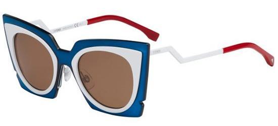Fendi ORCHIDEA FF 0117/S WHITE BLUE RED/BROWN