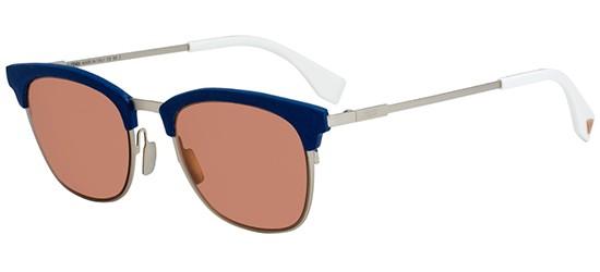 Fendi QBIC FF 0228/S SILVER DARK BLUE/GREY PINK
