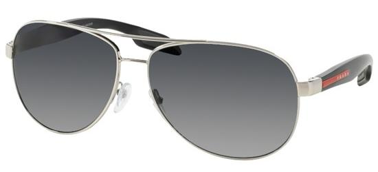 58d4bdd19b Prada Linea Rossa PRADA SPORT BENBOW 53PS Silver Black grey Shaded Polarized  (1BC 5W1)