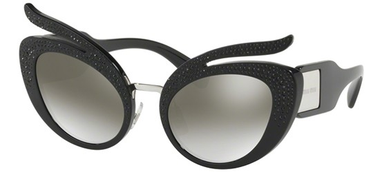 Miu Miu CATWALK SMU04TS BLACK/GREY SHADED