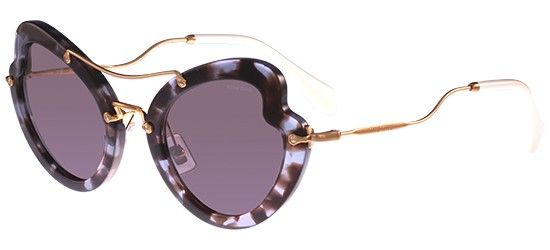 Miu Miu SMU11R LILAC HAVANA/BROWN PURPLE