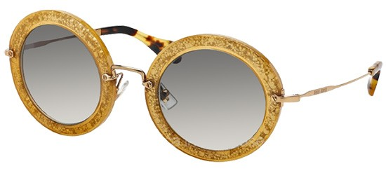 Miu Miu SMU13N DARK YELLOW SILVER/GREY SHADED