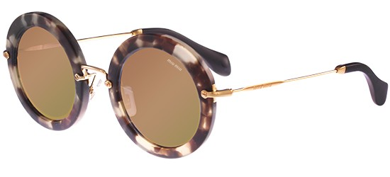 Miu Miu SMU13N BEIGE HAVANA/GREY ROSE GOLD MIRROR