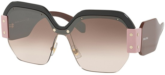 Miu Miu SORBET SMU09S BLACK BROWN/BROWN SHADED