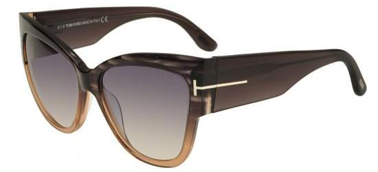 Tom Ford ANOUSHKA FT 0371 STRIPED DARK GREY BEIGE/LIGHT GREY SHADED