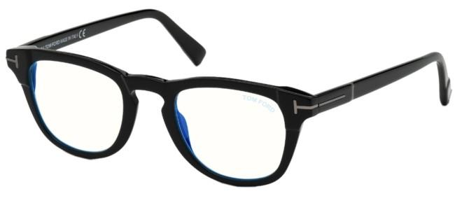 Tom Ford brillen FT 5660-B-N BLUE BLOCK BURNISHED