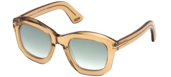 Tom Ford JULIA-02 FT 0582 SHINY LIGHT BROWN/GREEN SHADED